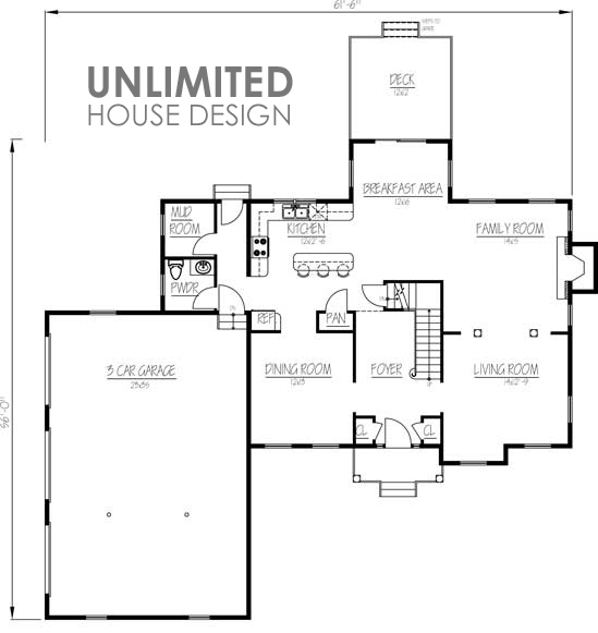 Unlimited home plans plan of the week quot unlimited for Home designs unlimited